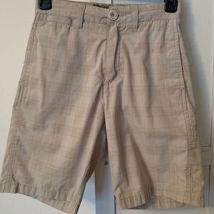 Boys Light Tan Plaid Micros Brand  Shorts Sz 8